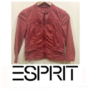 ESPRIT Vintage Burnt Orange Moto Jacket